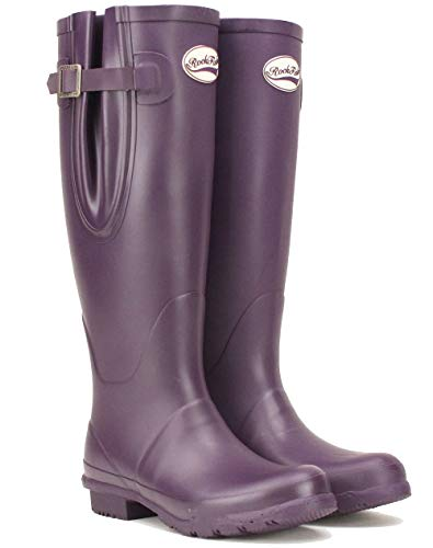 2bd708362ac7 Rockfish women s wellies wide adjustable or standard calf fit Purple