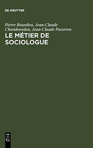 Le Metier De Sociologue: Prealables Epistemologiques par Pierre Bourdieu