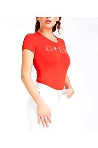 Guess VN Crystal T-Shirts & Poloshirts Damen Rot - XL - T-Shirts