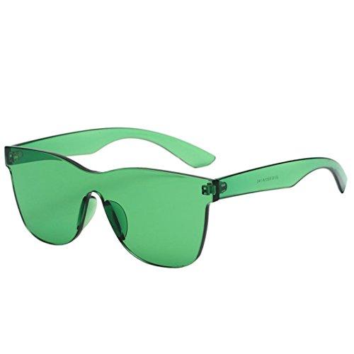 Fishroll Edelstein Sonnenbrille in Herzform Shades UV-Sonnenbrille, grün, 5.2x14x14.6cm