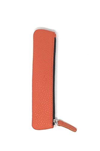 Orange-nappa Leder (PA Accessoires - Derby Fashion Made in Germany - Schlamper-Etui, genarbtes Rind-Nappa-Leder, orange)