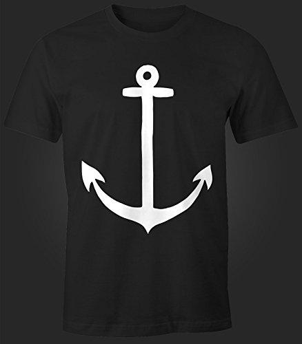 Herren T-Shirt - Anker - Comfort Fit MoonWorks® Schwarz