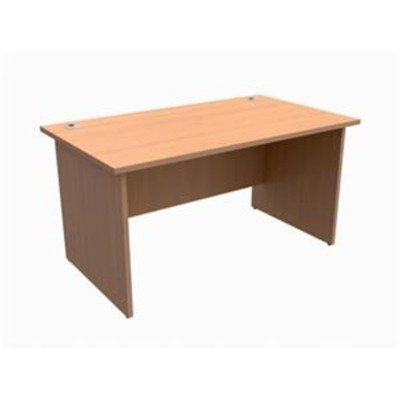 417721 - Trexus Classic Desk Panelled Rectangular W1400xD800xH725mm Beech