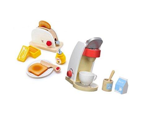 MaMeMi Das ultimative Frühstücks-Set für einen gelungenen Start in den Tag / Kinderküche / Set / Zubehör / Hape - Holz-frühstücks-set