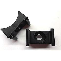 50x Kunststoffbock schwarz Doppelstabmattenzaun Rundrohr Auflagebock Zaun Halter