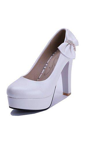 WSS 2016 Chaussures Femme-Bureau & Travail / Décontracté-Bleu / Rose / Blanc-Gros Talon-Talons / Bout Arrondi-Talons-Polyuréthane pink-us7.5 / eu38 / uk5.5 / cn38