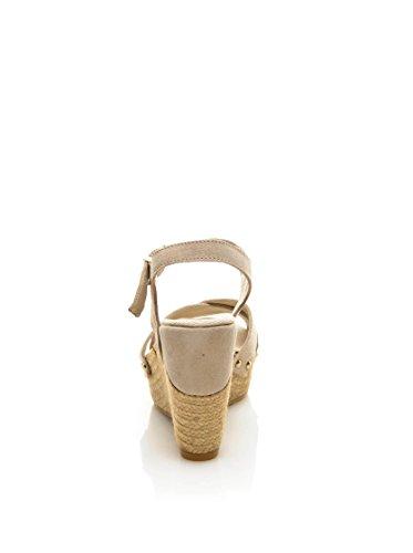 KEYS 4878 Sandalo zeppa Donna Beige