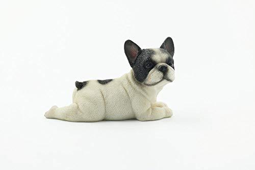 Winpavo Scultura Statuetta Soprammobile Ornament Decorazione Nuovo Piccolo Secchio Legge Ornamenti per Auto Simulazione Cane Modello Bulldog Francese Fortunato Decorazione Ornament