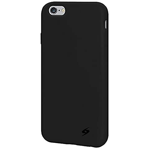 Amzer Silicone Skin Jelly Case Cover for iPhone 6/6s - Black