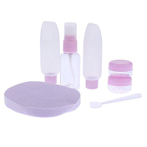 Gazechimp Set de 6pcs Voyage Portable Bouteille Vide Cosmétique Rechargeable 25/30 ml - Violet