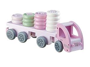 Kids Concept- Vehículos de jugueteCoches y Otros vehículosKids ConceptTruck Sorting Pink, Multicolor (1)