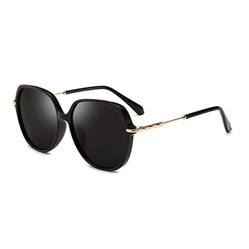 Polarisierte Sonnenbrille Frauen Licht Sonnenbrille Uv-Schutz Stil Stilvolle Komfortable Augen, Geeignet Für Dekorative Sonnenschutz Tourismus Fahren (Color : Black) (Versace Sonnenbrille Herren Pilotenbrille)