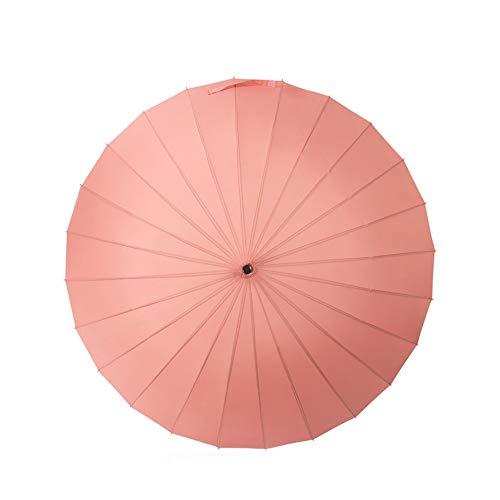 Poamen Regenschirm, manuell, öffnen und schließen, Langer Regenschirm mit 24 Rippen, langlebig und stark genug, Rose (Schwarz) - TW190619