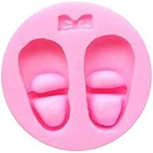 Ogquaton Premium Baby Shower Cake Decor 3D forma de zapato molde de pastel de silicona Candy