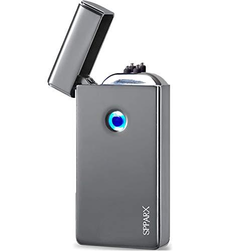 SPPARX USB Feuerzeug, lichtbogen feuerzeug. Neue Technologie - Neue Generation elektro feuerzeug, plasma feuerzeug, Elektronische Feuerzeug, Dual-Bogen-Strahl, USB wiederaufladbare winddicht