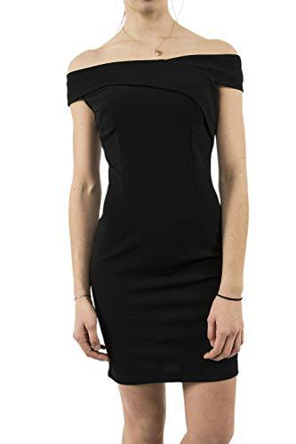 Guess Abito Jacquelyn Dress Robe, Noir (Jet Black A996 Jblk