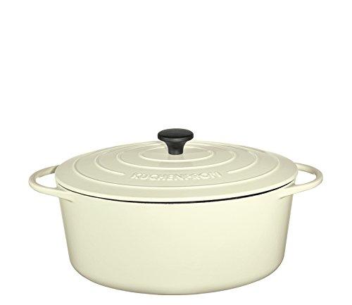 Küchenprofi Bratentopf oval, 35cm Creme Provence Gusseisen, 35 cm