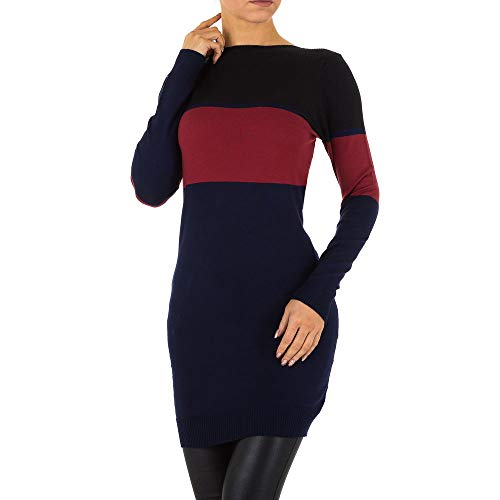 Ital-Design Gestreiftes Strick Kleid Für Damen
