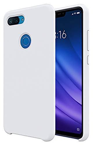 Pacyer Funda Compatible conXiaomi Mi 8 Lite, Ultra Suave TPU Gel de Silicona Case Protectora Suave Flexible teléfono Absorción de Impacto Elegante Carcasa Compatible Xiaomi Mi 8 Lite (Blanco)