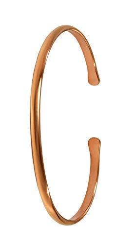 "Schaepers Kaleidoskope 7\"" Kupferarmband/Handgeschmiedet aus massivem Kupfer/Materialstärke 2 mm. / Breite 3 mm (Large)"