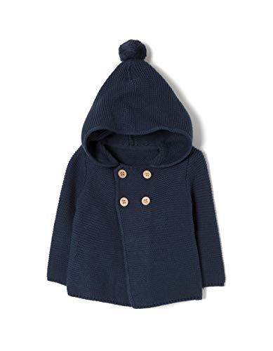 ZIPPY Znb0202_455_3 Blouson À Capuche, Bleu (Dress Blue 185), 62 (Taille Fabricant: 1/3M) Bébé garçon