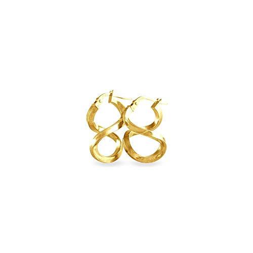 Stroili Oro Orecchini a cerchio in oro bianco 9 Kt Referenza 1401030