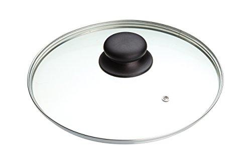 ARIZONE Kitchen Craft Size - (14CM) To (36CM) Frying Pan Saucepan Glass Lid Cover (22cm)