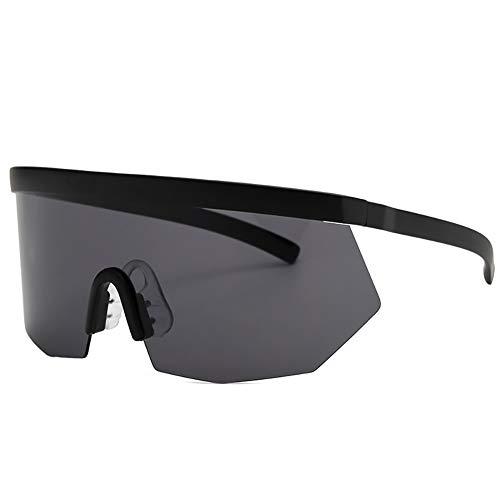 ViewHuge Unisex Super Shield Sonnenbrille, übergroße Sonnenbrille, einteilige Brille, Grau