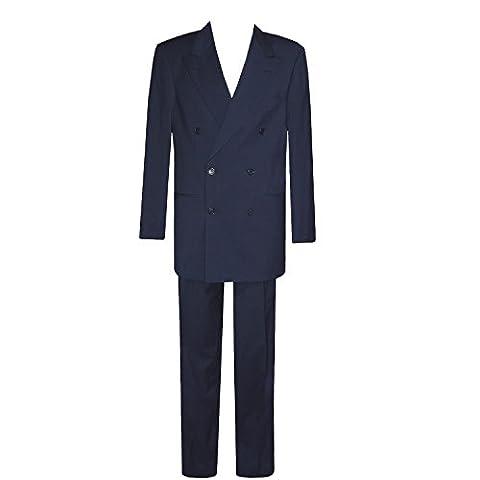 Boss, , Anzug Zweireiher, feine Gabardinequalität, nachtblau, 94