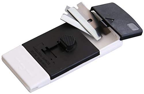 FACKELMANN 60141 Reinigungsschaber mit 2 Klingen 10x4,5x1,5cm aus ABS/Edelstahl
