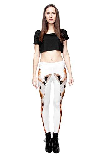 Long Femmes Filles Leggings Jegging imprimé Fitness Pantalon Skinny stretch Galaxy Pantalon de sport d'entraînement Multicolore - Girafe