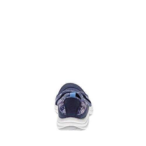 Easy Spirit Wayanna Femmes Large Toile Mary Janes Blue Multi