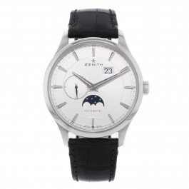 Zenith Elite Moonphase 03.2143.691/01.C498 Silver Steel Automatic Men's Watch