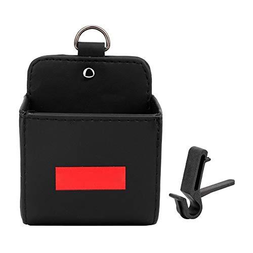 Air Vent Bag - Auto Air Vent Organizer Etui Halter PU Leder Outlet Aufbewahrungsbox Schwarz -