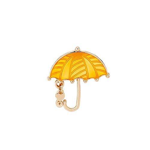 Daesar Mädchen Legierung Broschen Kleidung Dekoration Karikatur Regenschirm Kette Herz Orange Damen Brosche Zubehör Mantel Hemd Deko Brooch