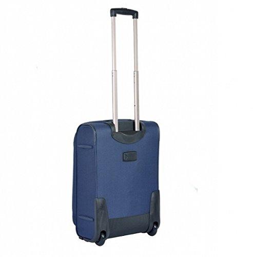 Koffer Reisekoffer Puccini Camerino 52x36x20 cm (schwarz) blau