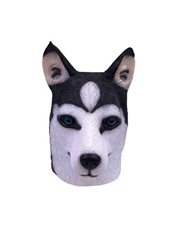 Ypyrhh maschere animali, party story husky dog ​​head maschera latex animal head mask novità costume in maschera maschere, regali divertenti per uomo