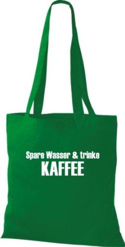 Pochette en tissu Spare Eau & Buvant du café sac en coton, Sac, Sac à bandoulière Plusieurs couleurs Vert - kelly
