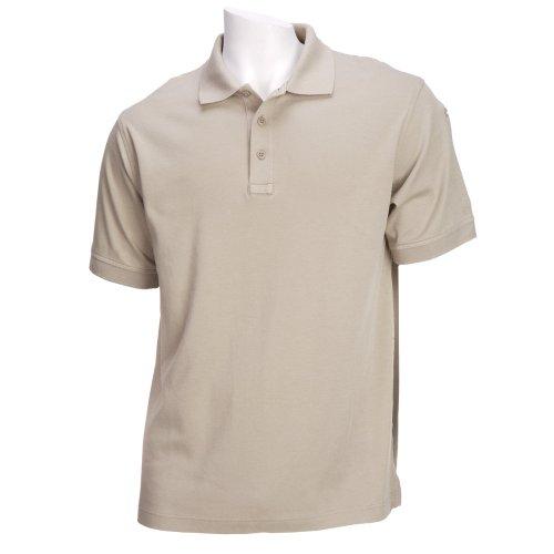 5.11Tactical # 71182Tactical Polo Short Sleeve Shirt, damen Herren, Silver Tan (Besticktes Tan T-shirt)