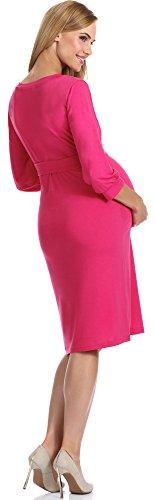 Be Mammy Damen Umstandskleid Karen Rosa