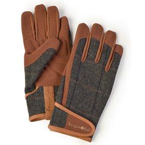 Burgon And Ball Gardening Gloves Men's - Dig The Glove Tweed Size L/xl