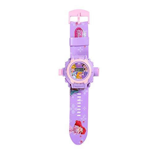 Mädchenuhren Spielzeuguhr Projektion Cartoon Prinzessin LED Digital Armbanduhren für Mädchen Kunststoff Uhrenarmband for für 2-10 jährige, Violett