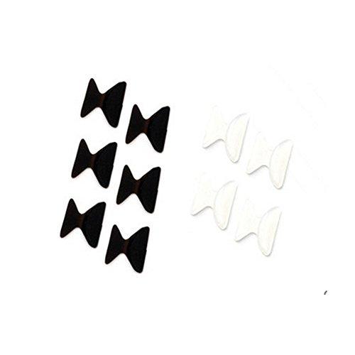 5-paires-25mm-antiderapants-lunettes-silicone-nez-pads-noir-transparent