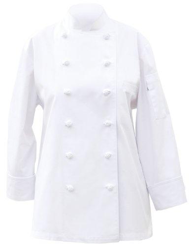 Chef Works Chelsea Damen Basic, Chef Coat, weiß, CKWECC-WHT (Chef Mäntel Von Chef Works)