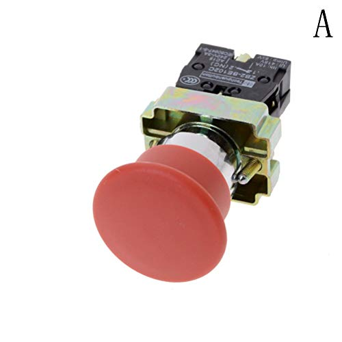 Mushroom Switch - Practical 22mm Nc N C Red Sign Mushroom Emergency Stop Push Button Switch - 2006 Angled Pushbutton Kcd3 Speaker Vios Metal Bell Electromagnet Valve Emergency Plug Adaptor Pus - Valve Box Cover