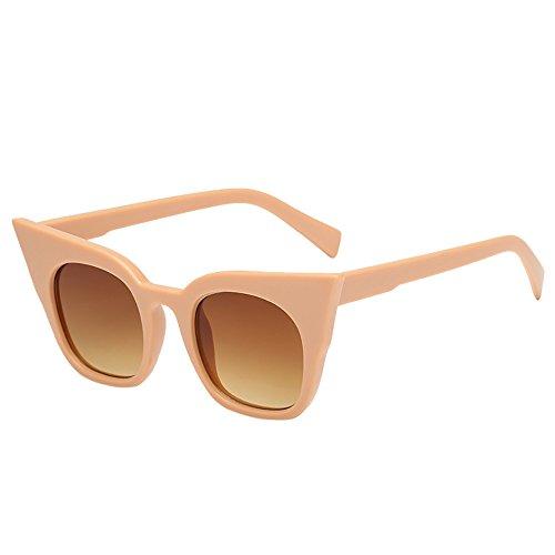 WUDUBE_Sonnenbrille für Kinder Cat Eye, Trend Street Leopard Frame Gradient Tea Cat ()