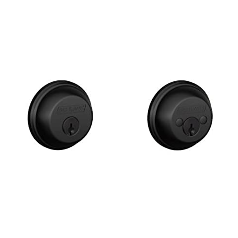 Schlage B62 Double Cylinder Grade 1 Deadbolt from the B-Series, Matte Black by Schlage Lock Company