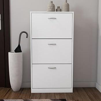 Torino 3 Drawer Shoe Cabinet in White - 9 Pairs: Amazon.co.uk ...