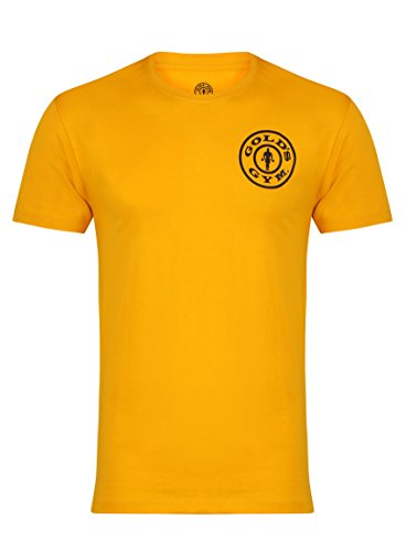 Gold's Gym Basic Left Breast T-Shirt Camiseta Manga Corta, Hombres, Dorado, Small