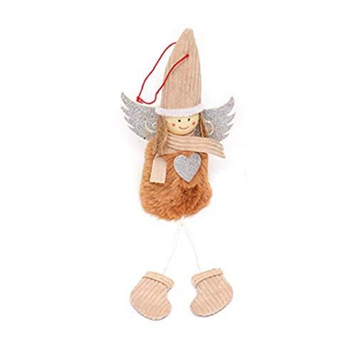 Paradesour Weihnachten hängende Plüschfigur Spielzeug Santa Claus Gefüllte Klassische Plaid Dekoration Ornament für Home Office Room Show Fenster (Santa Claus Große Gefüllte)